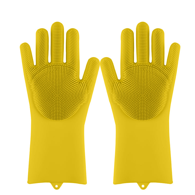Magic Silicone Dish Washing Sponge Rubber Scrub Gloves
