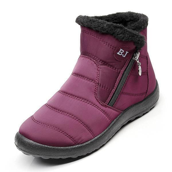 Winter Comfy Warm Snow Boots with Zipper