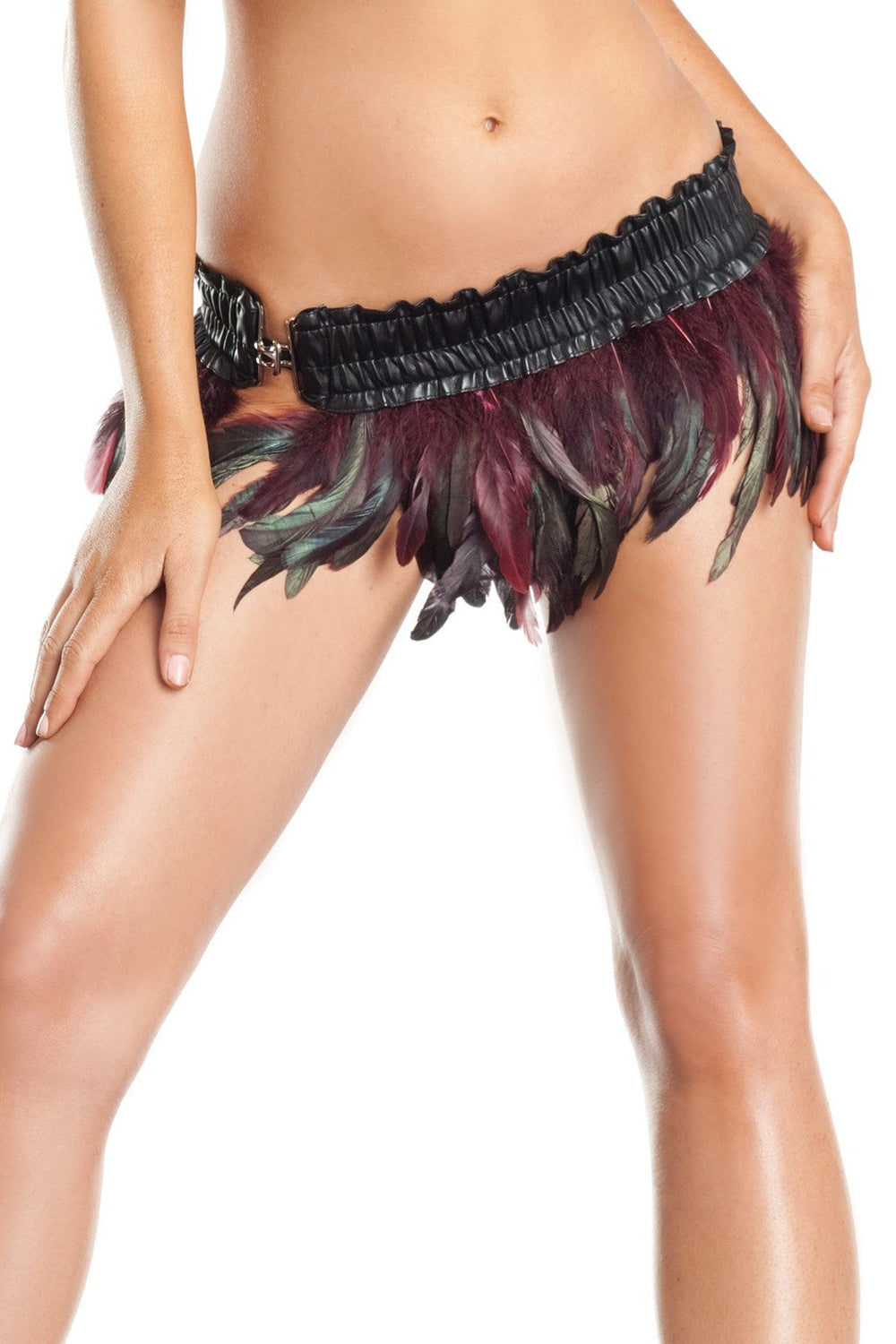BW1000BL Turkey Exotic Feathers Skirt - Blue