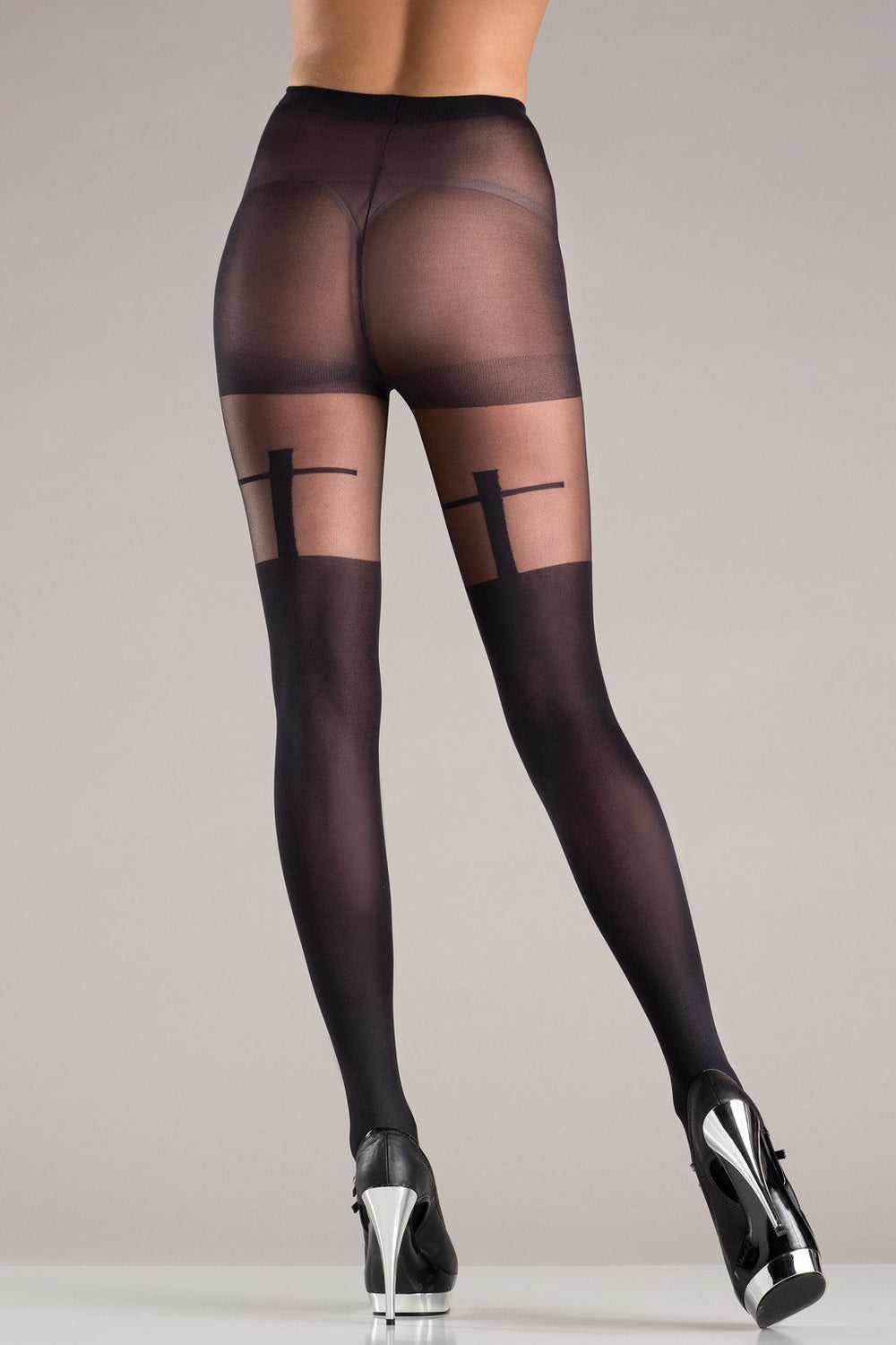 BW724 Cross Design Pantyhose