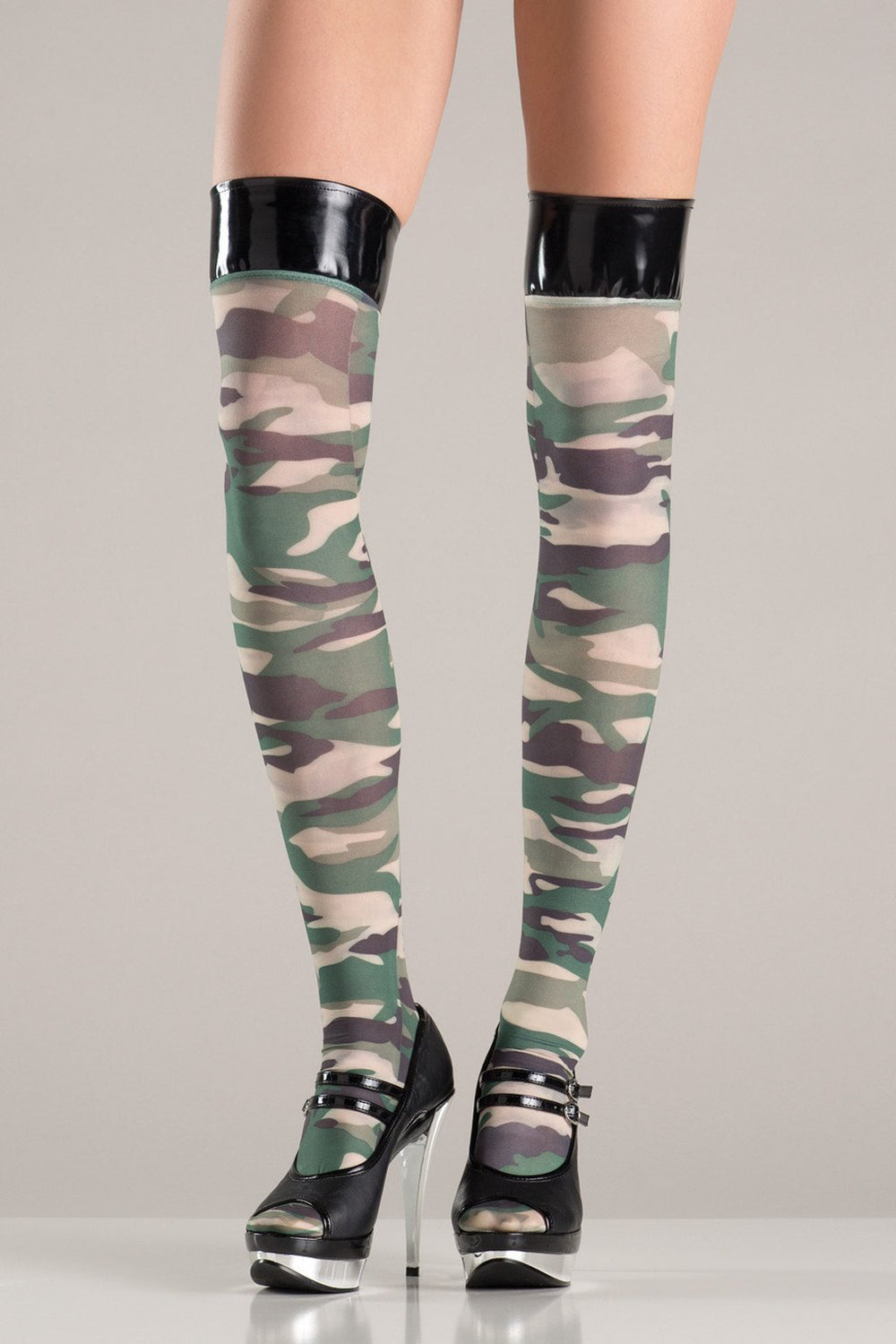 BW750 Camo Thigh Highs