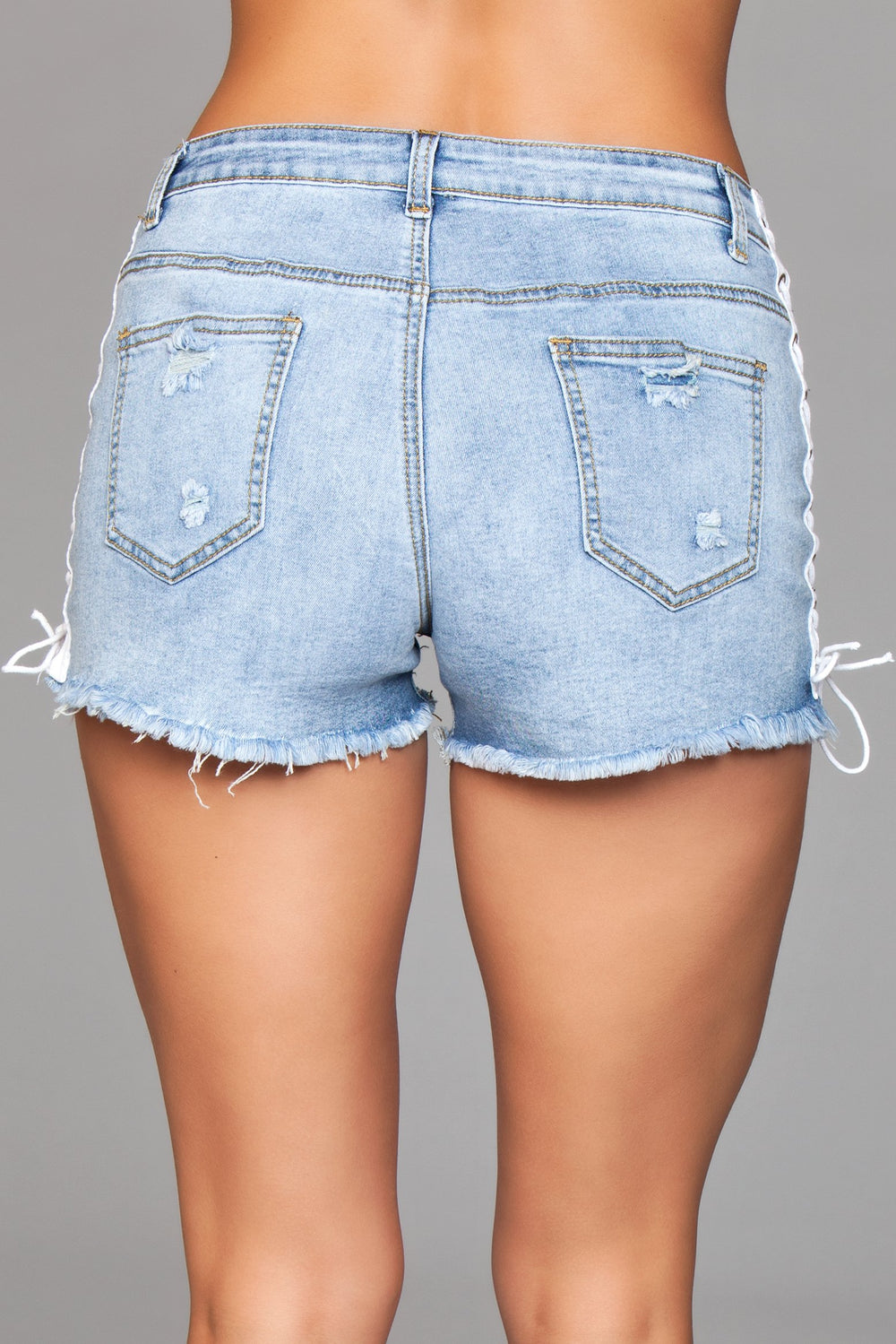 J6BL Double Up Shorts - Light Wash