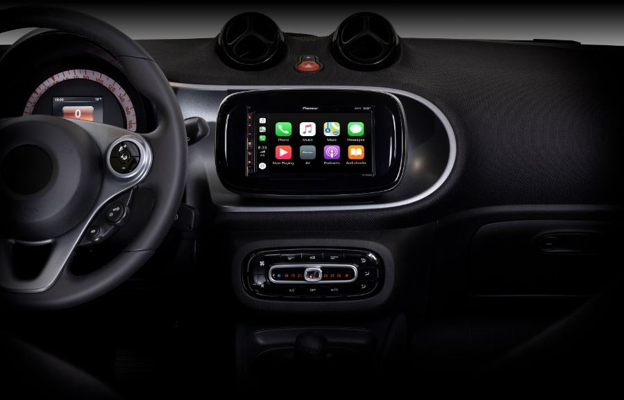 Pioneer SPH-EVO62DAB-SMAB monitor con DAB+, Bluetooth, Android Auto e Apple CarPlay per Smart Forfour / Fortwo