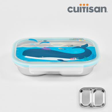 Baby 2-Compartment Food Tray - 850ml BLUE