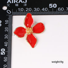 Load image into Gallery viewer, NZ - Sweet Shiny Red Flower Stud Earrings