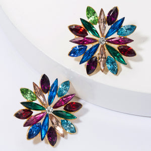 NZ - Colourful Starlight Alloy Stud Earrings