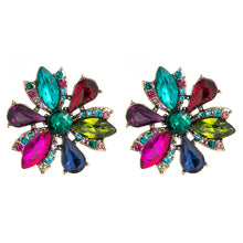 Load image into Gallery viewer, NZ - Inlaid Rhinestone Temperament Studs Earrings