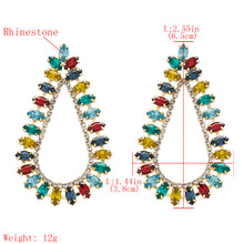 Load image into Gallery viewer, NZ - Colourful Drop-shaped Studded Stud Earrings