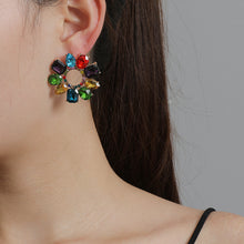 Load image into Gallery viewer, NZ - Colourful Geometric Round Stud Fashion Earrings