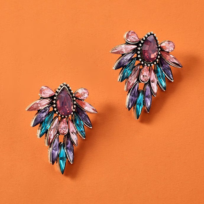NZ - Colourful Insect Flower Stud Fashion Earrings
