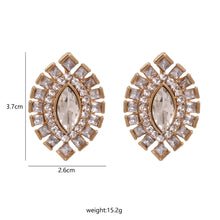 Load image into Gallery viewer, NZ - Crystal Olive alloy Stud Earrings