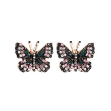 Load image into Gallery viewer, NZ - Colourful Butterfly Stud Fashion Earrings