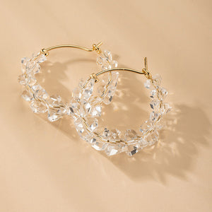 NZ - Bijoux Splinter Glass Hoop Earrings