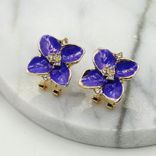 Load image into Gallery viewer, NZ - Drip flower Flash Clip Stud Earrings