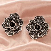 Load image into Gallery viewer, NZ - Cubic Zirconia Rose Flower Stud Earrings