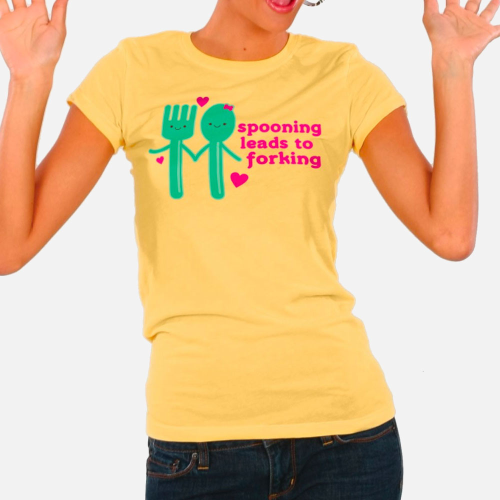 Spooning Leads to Forking Ladies' Tee