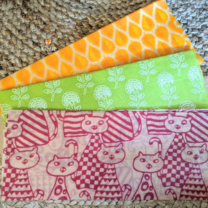 Beeswax Wraps (Set of 3)