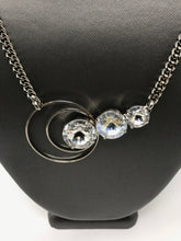 Load image into Gallery viewer, B-JWLD 3 Crystal Necklace with Circular Accent