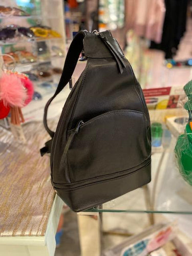 Genuine Leather Smart Versatile Backpack & Shoulder Sack Combo