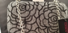 Load image into Gallery viewer, Sondra Roberts Floral Metallic Clutch