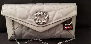 Sondra Roberts Satin Clutch with Crystal