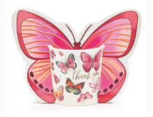 Load image into Gallery viewer, Thank You Butterfly Mug with Paper Gift Caddy