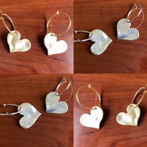 B-JWLD Solid Heart Earrings (Silver Finish)