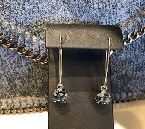 B-JWLD Round Navy Crystal Drop Earrings