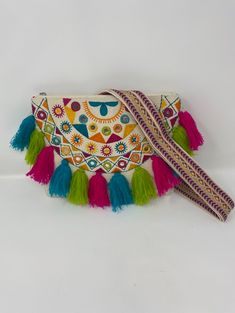 Magid Canvas Tassel Crossbody