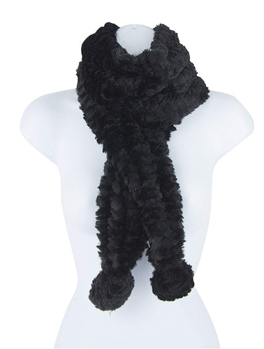 Black Lavello Posh Plus Scarf