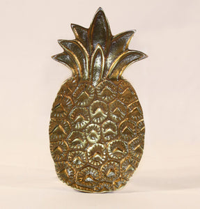 Antique Brass Pineapple Trinket Tray