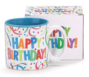 Confetti Happy Birthday Mug