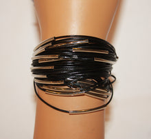 Load image into Gallery viewer, B-JWLD Black Corded Bracelet