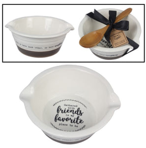 Friends Gather Bowl & Spoon Set