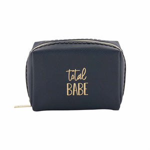 """Total Babe"" Square Navy Makeup Bag"