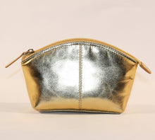 Load image into Gallery viewer, ILI Large Metallic Gold Coin Purse