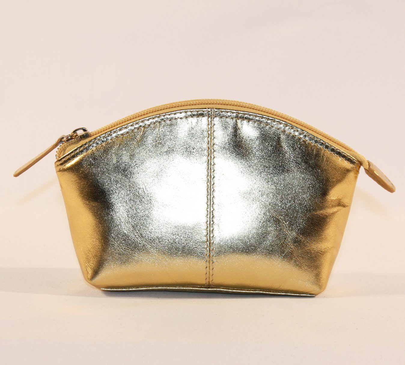 ILI Large Metallic Gold Coin Purse