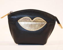 Load image into Gallery viewer, ILI Small Gold Lips Purse