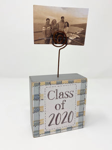Class of 2020 Wood Block Photo Holder