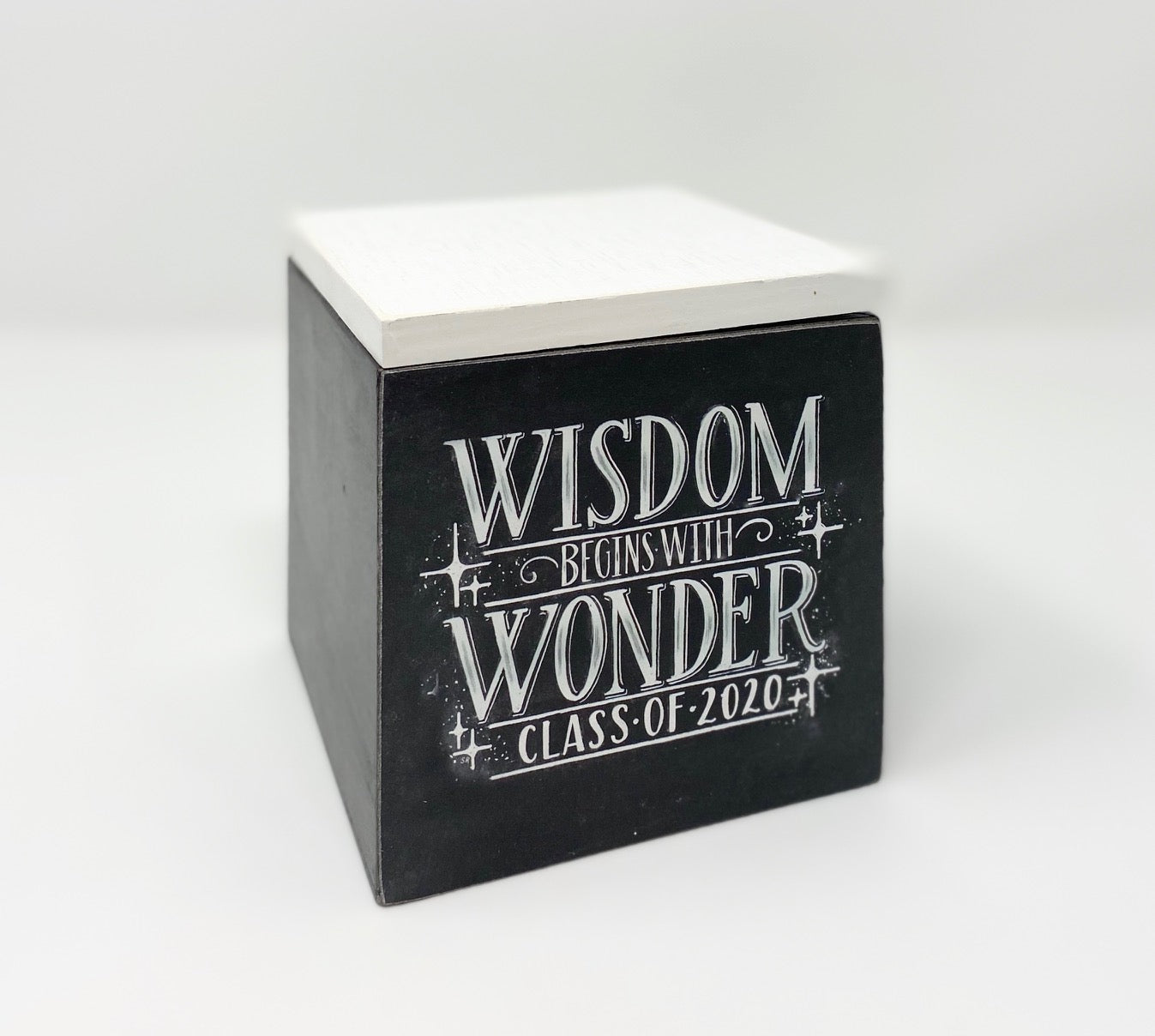 Wisdom Begins With Wonder Class of 2020 Wooden Box
