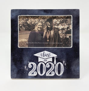 """Class of 2020"" Chalkboard Design Wood Frame"