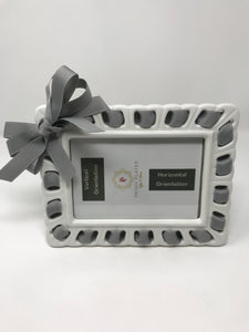 Prissy Plates Frame with Ribbon