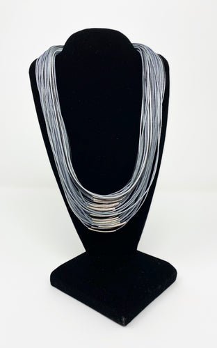 B-JWLD Silver/Grey Tones Corded Necklace