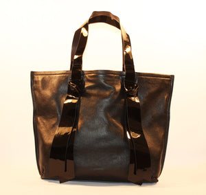 Sondra Robnerts Genuine Black Leather Nappa Tote