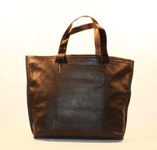 Load image into Gallery viewer, Sondra Robnerts Genuine Black Leather Nappa Tote