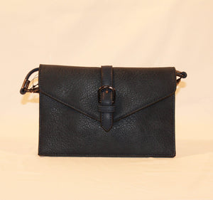 Sondra Roberts Black Nappa Envelope Crossbody