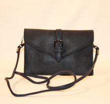 Load image into Gallery viewer, Sondra Roberts Black Nappa Envelope Crossbody