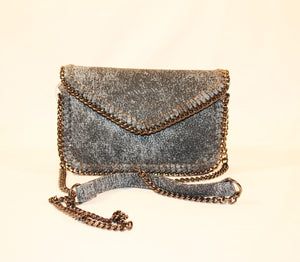 Sondra Roberts Denim Nappa Envelope Crossbody