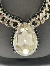 Load image into Gallery viewer, B-JWLD Large Silver Crystal Pendant Necklace