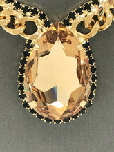 Load image into Gallery viewer, B-JWLD Large Gold Crystal Pendant Necklace